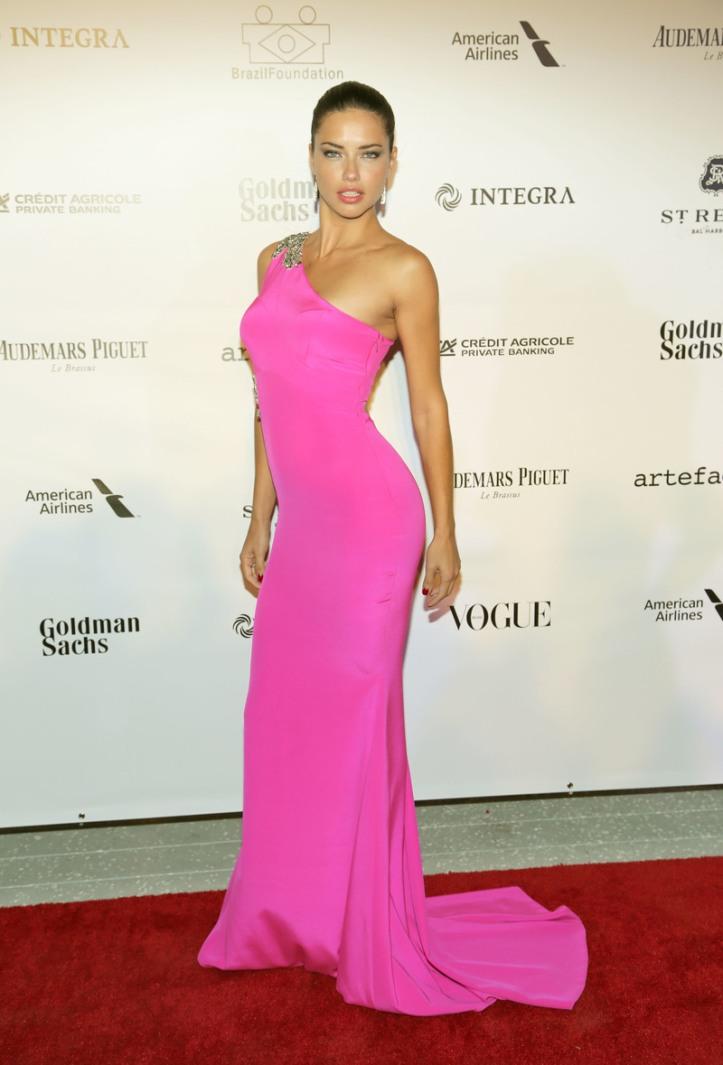 Adriana Lima for 3rd Annual Brazil Foundation Gala in Miami March 2014