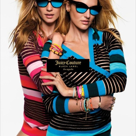 Candice Swanepoel and Behati Prinsloo star in Juicy Couture's spring-summer 2016 campaign