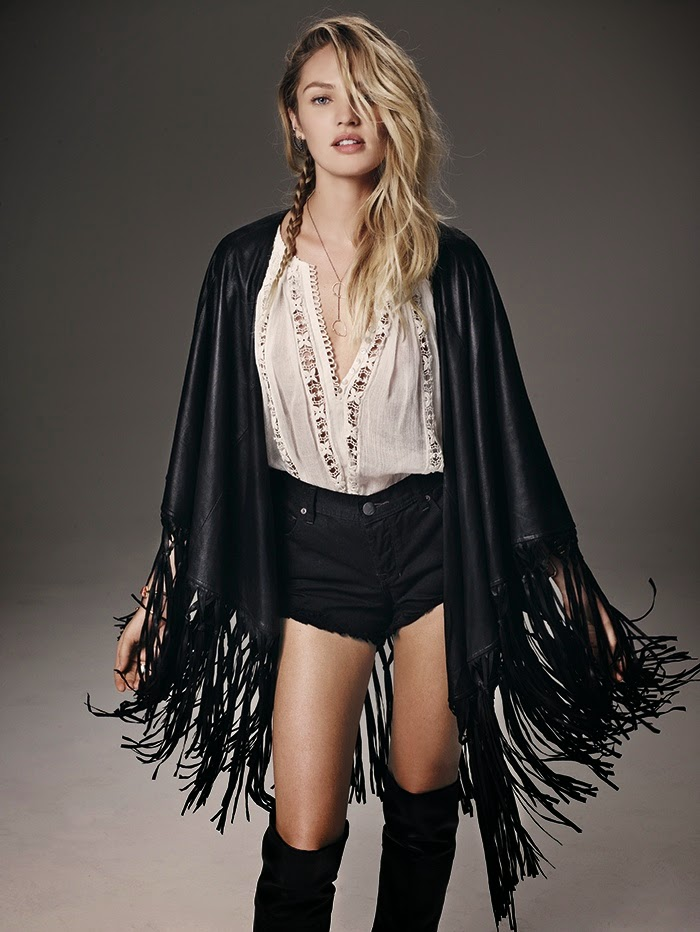 Candice Swanepoel for Free People July 2014 Catalogue