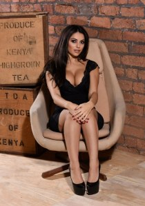 Charlotte Springer in a tight sexy black dress photo-shoot (12)