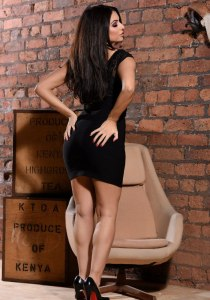 Charlotte Springer in a tight sexy black dress photo-shoot (13)