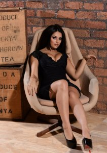 Charlotte Springer in a tight sexy black dress photo-shoot (14)