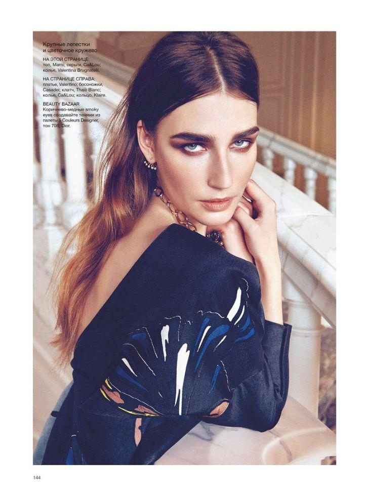 Eugenia Volodina by Federica Putelli for Harper's Bazaar Ukraine April 2014