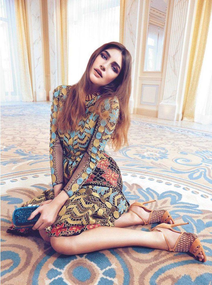 Eugenia Volodina Federica by Putelli for Harper's Bazaar Ukraine April 2014