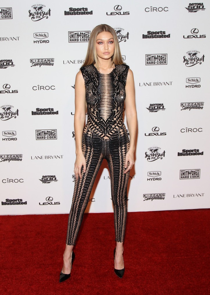 Gigi Hadid for Sports Illustrated Swimsuit 2016 - NYC VIP press event on February 16, 2016 in New York City (6)