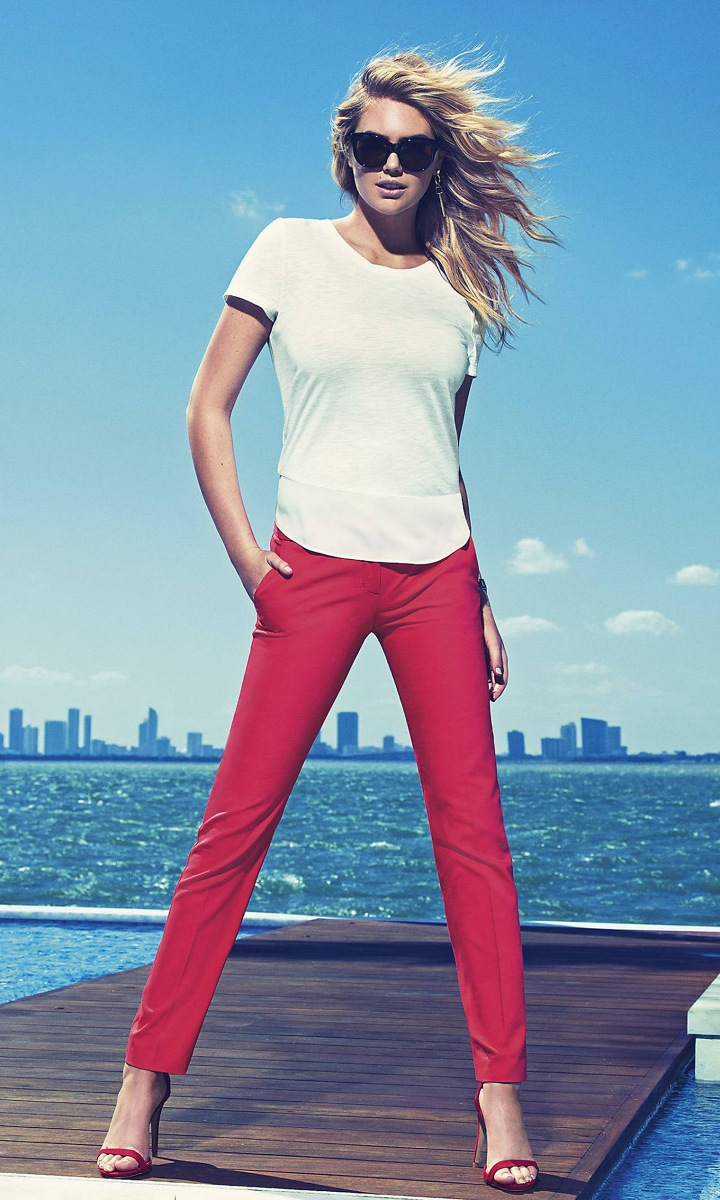 Kate Upton at Express clothing's spring-summer 2015 campaign (3)