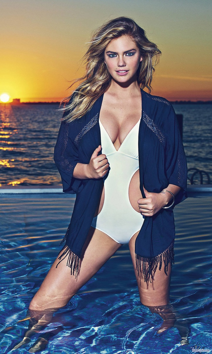 Kate Upton at Express clothing's spring-summer 2015 campaign
