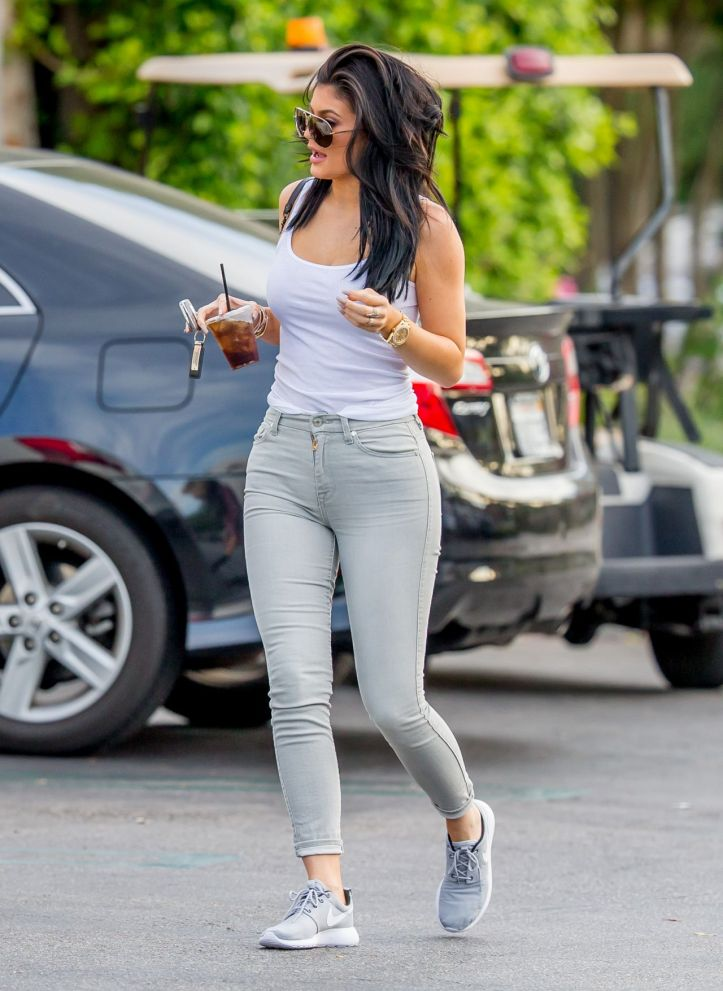 Kylie Jenner in Tight Jeans – Out in Calabasas August 2015