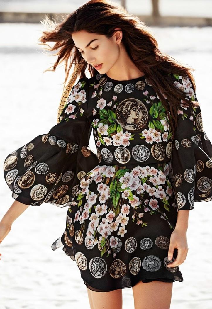 Lily Aldridge wears Bohemian Style for Glamour France by Derek Kettela