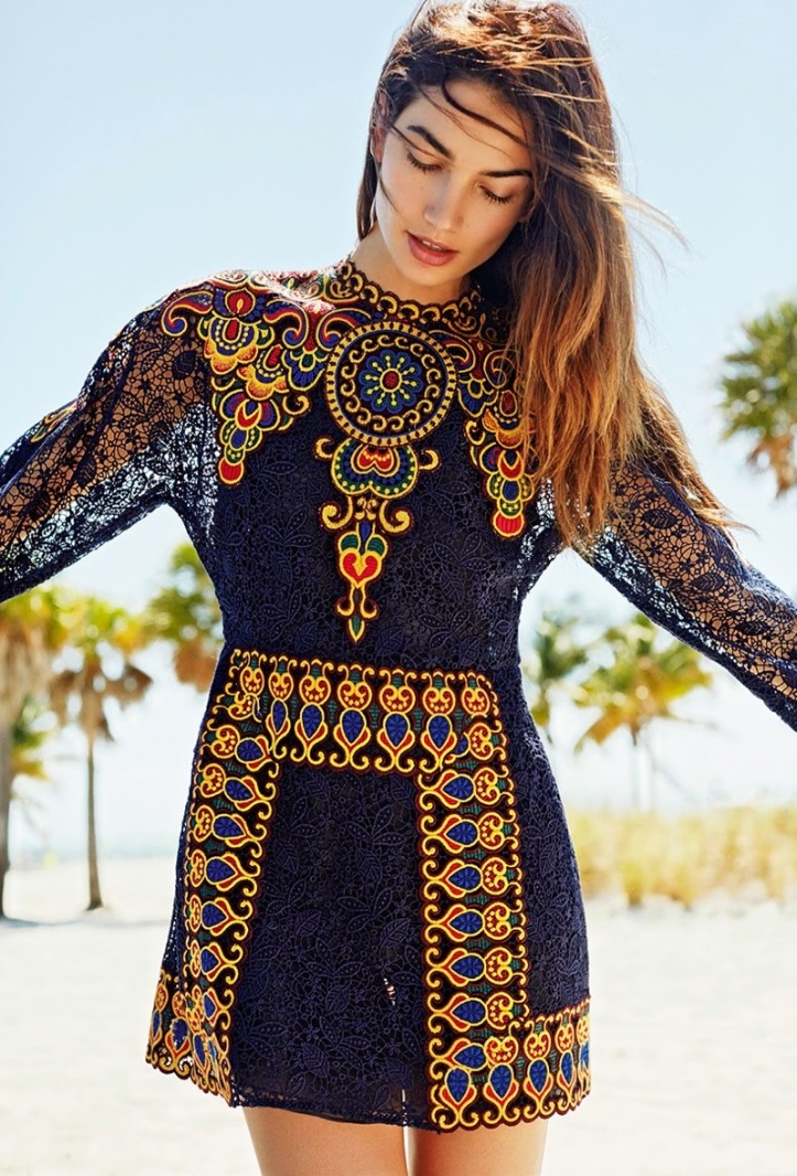 Lily Aldridge wears Bohemian Style for Glamour France by Derek Kettela (3)