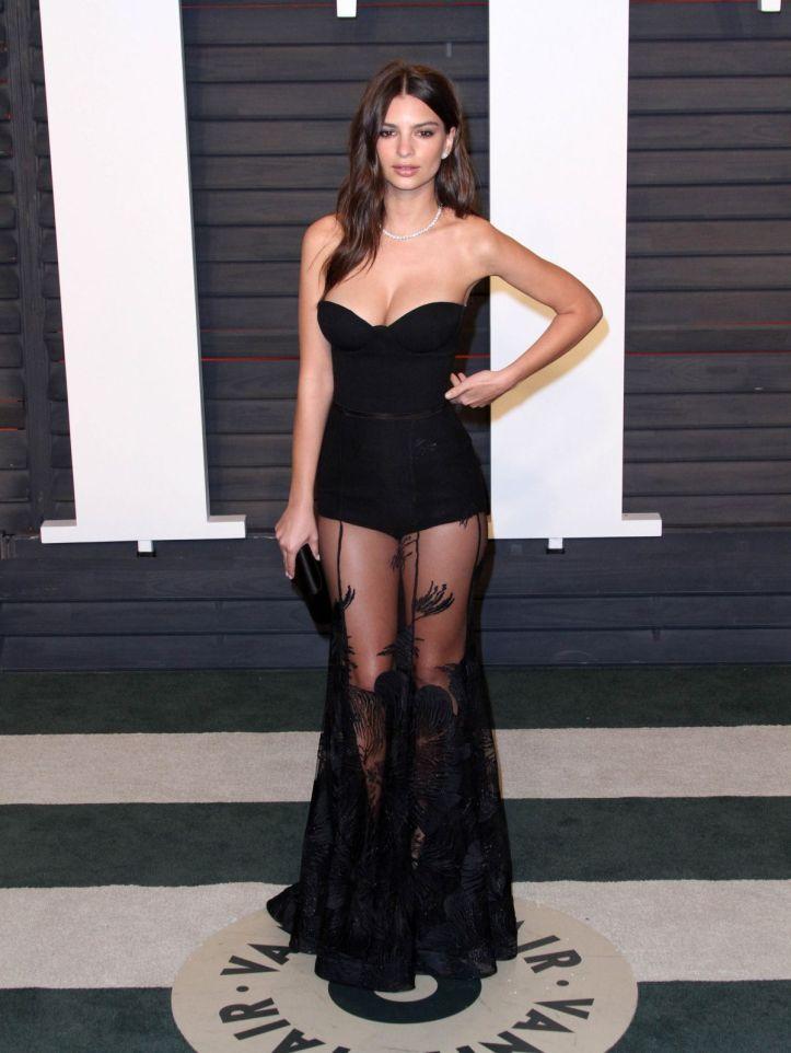 Emily Ratajkowski at Vanity Fair Oscar 2016 Party in Beverly Hills on February 2016