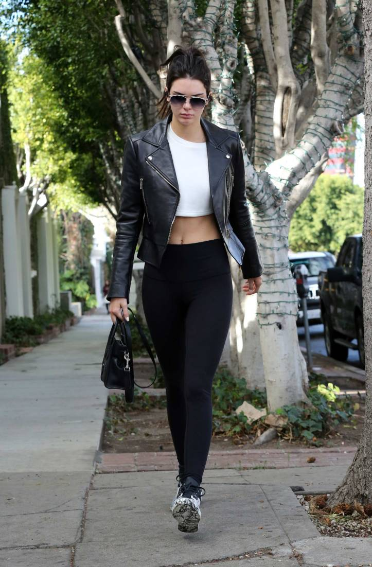 Kendall Jenner at Alfred Coffee in West Hollywood