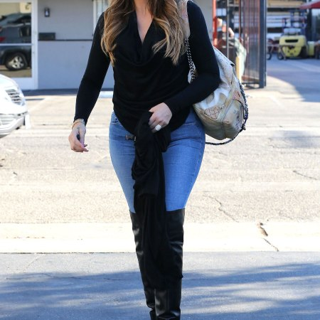 Khloe Kardashian Fashion Candids Photography out in Beverly Hills