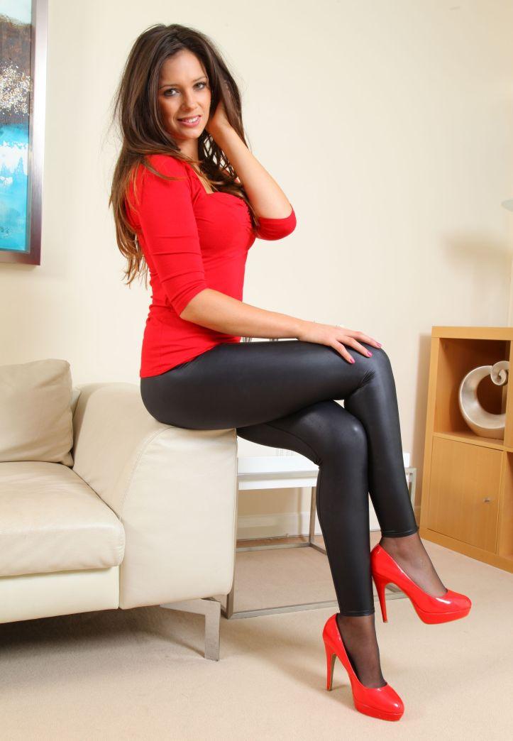 Louisa Marie looking hot in tight black leggings