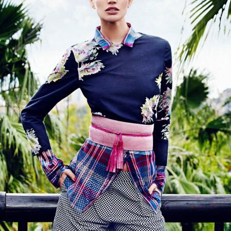 Rianne Ten Haken by Xavi Gordo for Sports Elegant Style for Elle Spain's March Issue