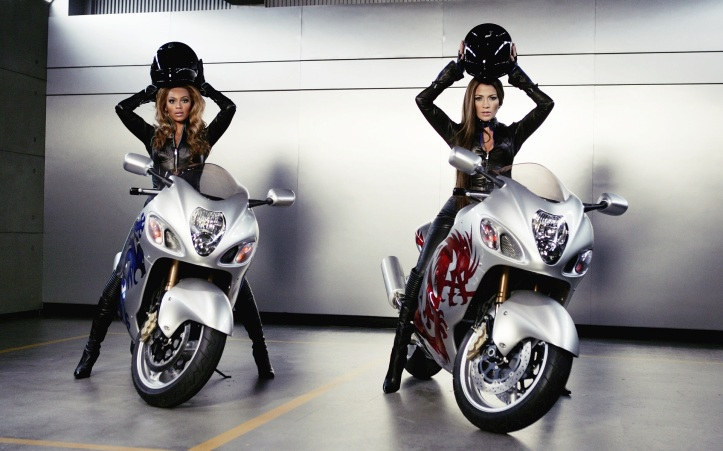 Beautiful Models with Bike HD Wallpaper Collections