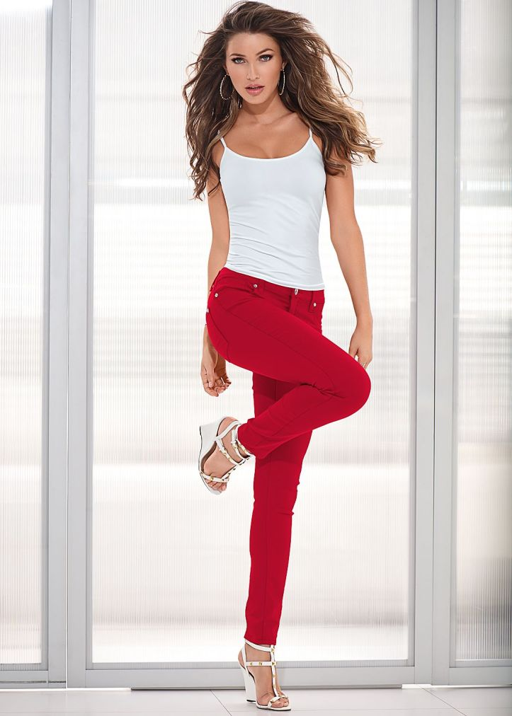 Brazilian model Simone Villas Boas in Jean photo-shoot collections