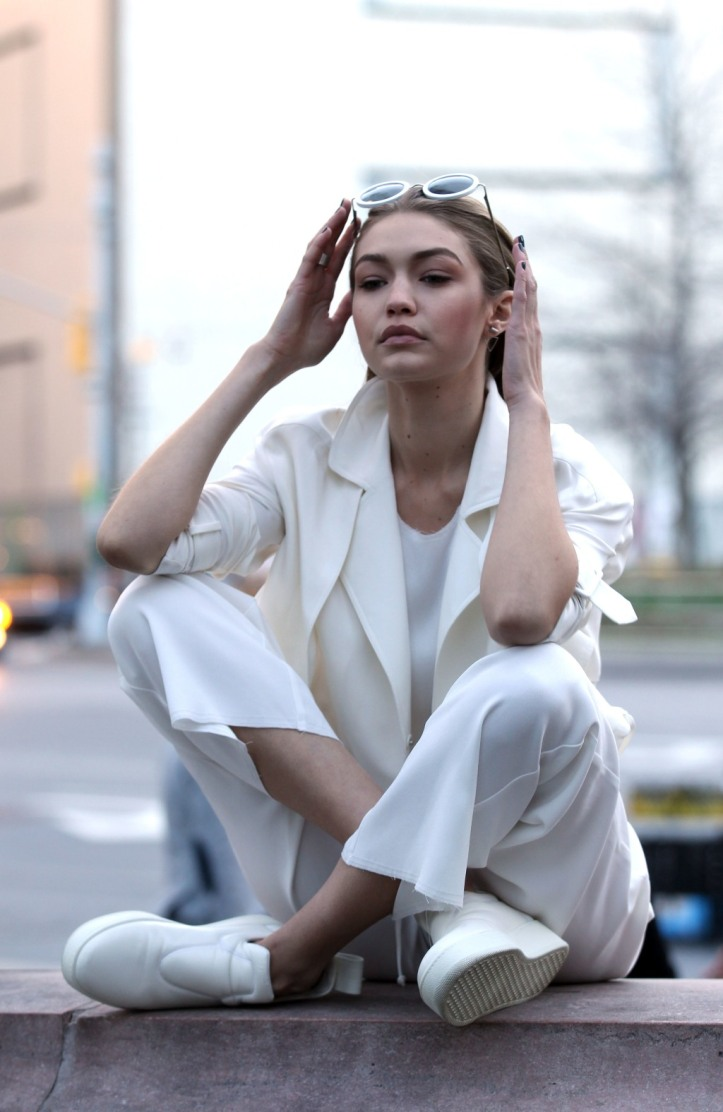 Gigi Hadid for Maybelline Photoshoot New York City on March 29th 2016