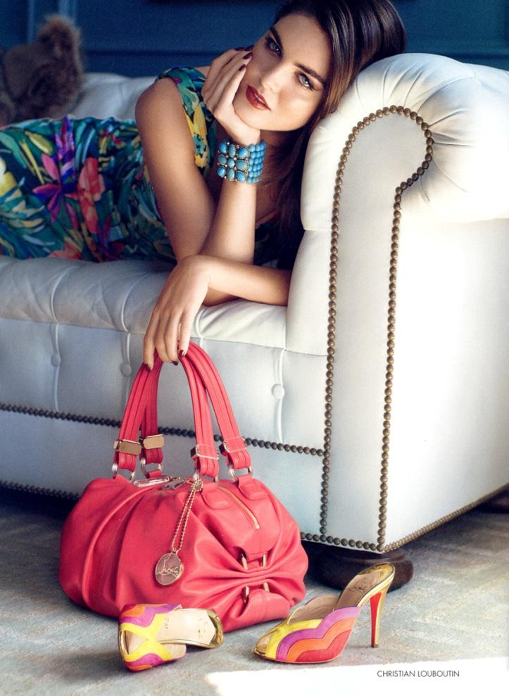 Hilary Rhoda in Neiman Marcus Ads for Bazaar US January 2009 -Glamourous Luxury Style