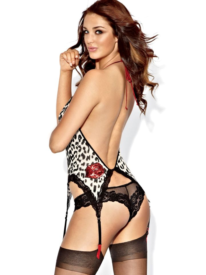 Violet Budd for Valentine's day campaign at Fredericks of Hollywood