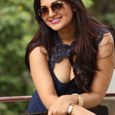 Telugu actress Ashwini latest sizzling photo shoot at Vinodham 100% press meet