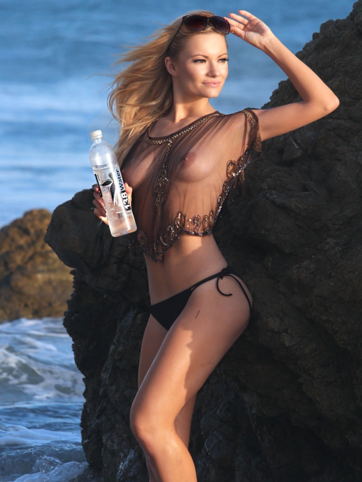Caitlin O'Connor Posing Topless For 138 Water in Malibu
