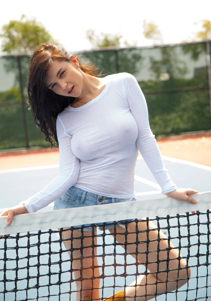 Hot model Еugenia at Eugenias on the court for Cosmid (4)