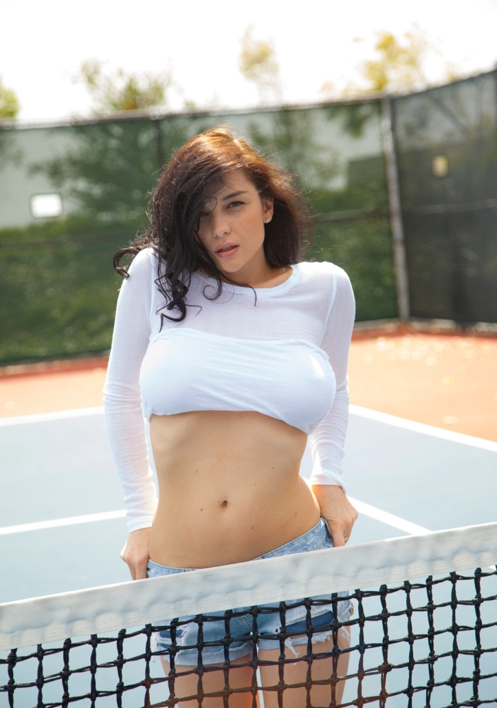 Hot model Еugenia at Eugenias on the court for Cosmid (6)