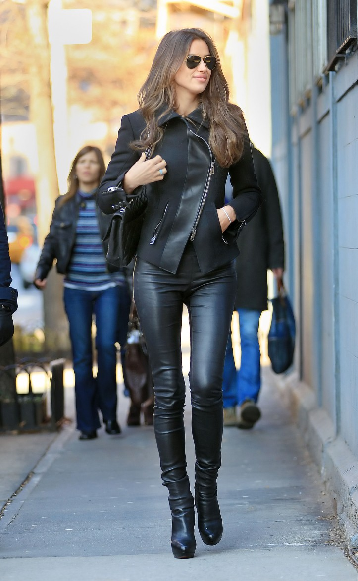 Irina Shayk out and about in New York City on December 10, 2011