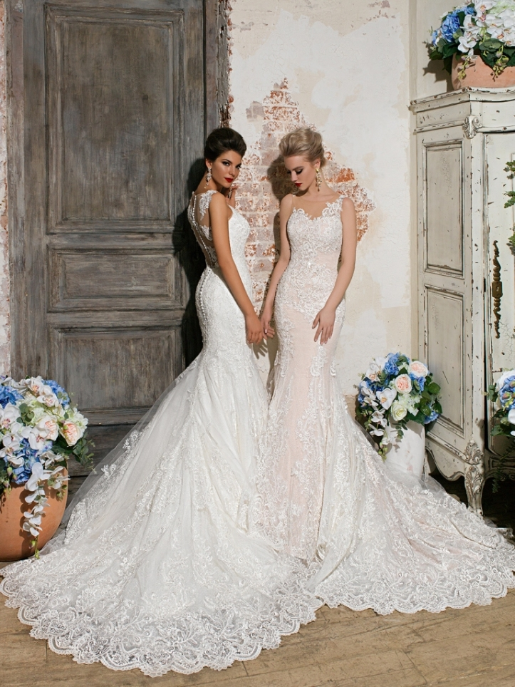 Models Lera and  Alena by Marina Danilova for Ladianto Wedding Dress Collection Spring Summer 2016 (12)