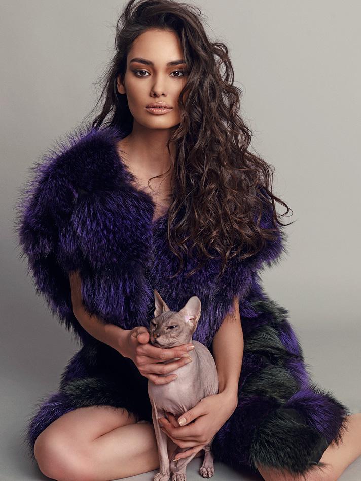 Natalia Rassadnikova by Igor Oussenko for In Fashion Magazine- The Bold and The Furry (1)
