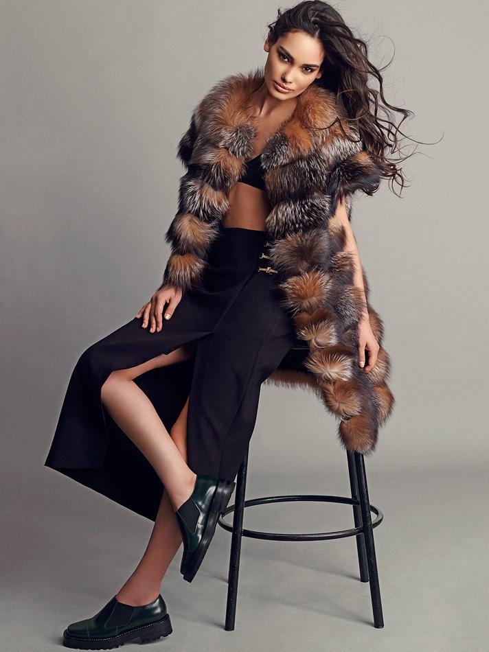 Natalia Rassadnikova by Igor Oussenko for In Fashion Magazine- The Bold and The Furry (2)
