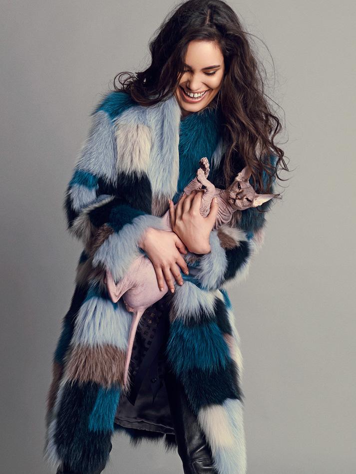 Natalia Rassadnikova by Igor Oussenko for In Fashion Magazine- The Bold and The Furry (8)