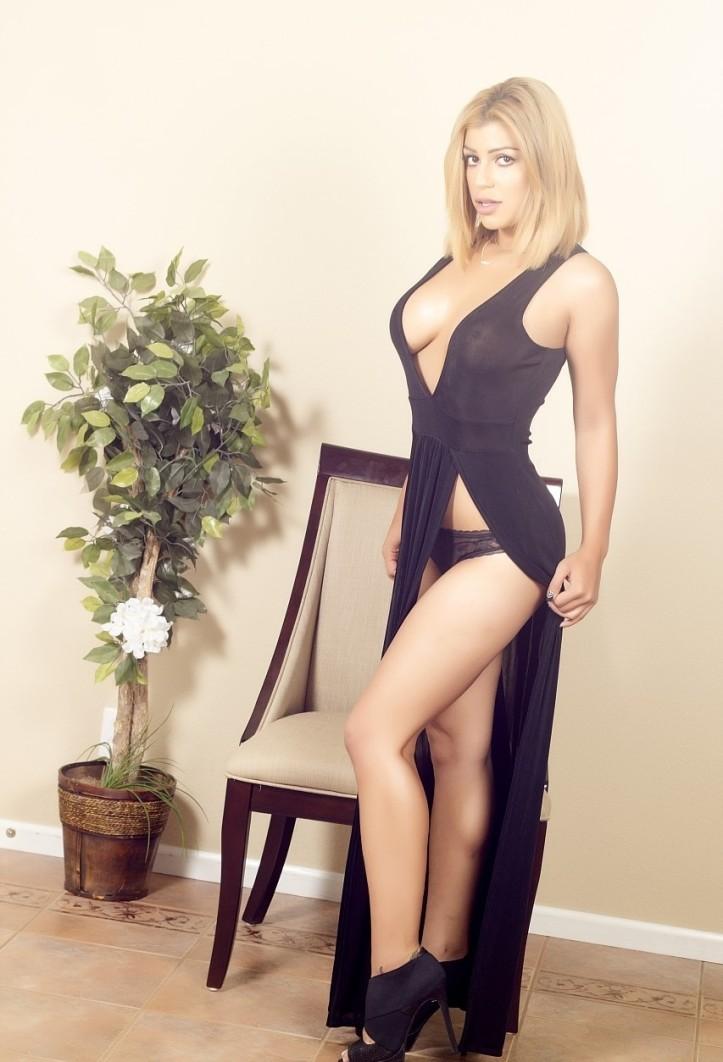 Briana Lee in a long black dress photo-shoot (3)
